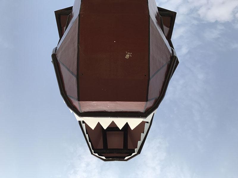 東浜きょうりゅう公園の恐竜の口