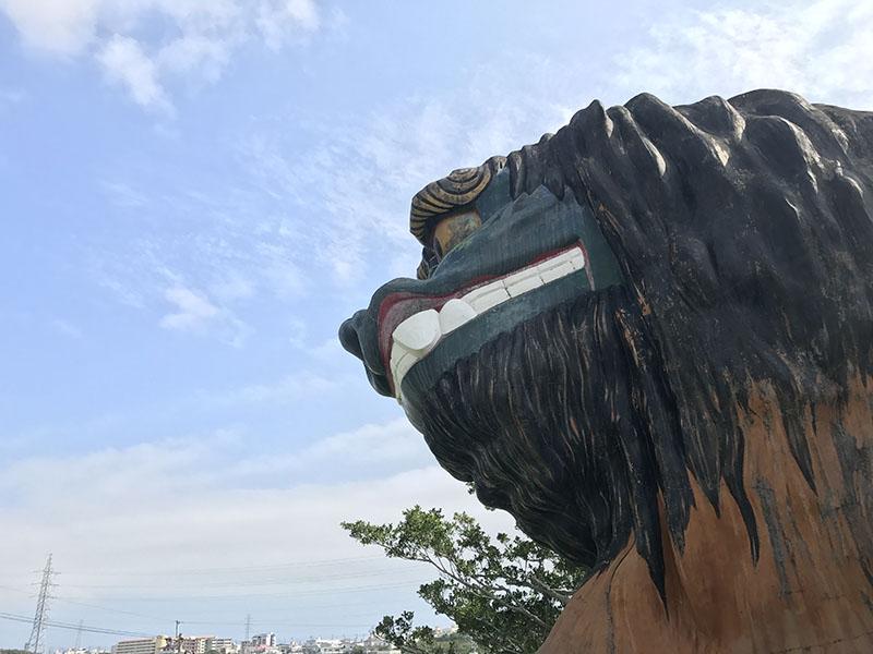 友寄馬場公園の獅子舞の滑り台