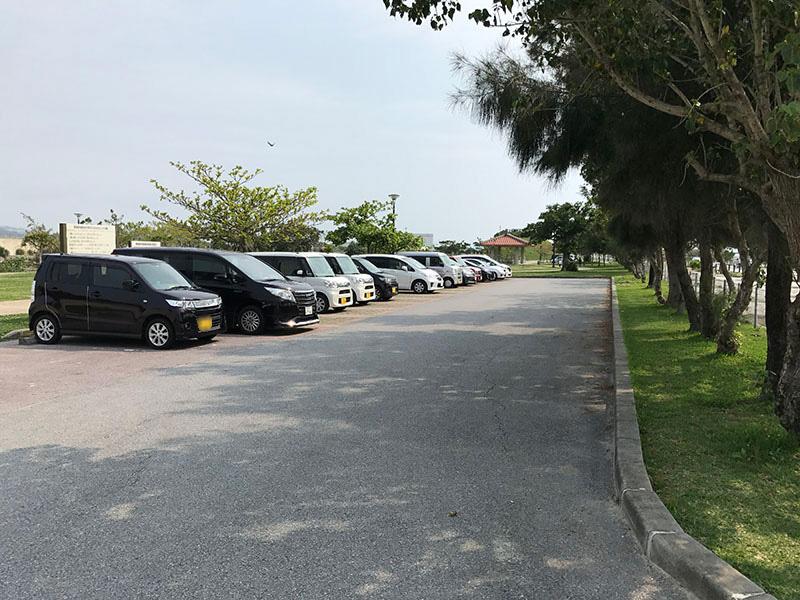 イルカ公園の無料駐車場