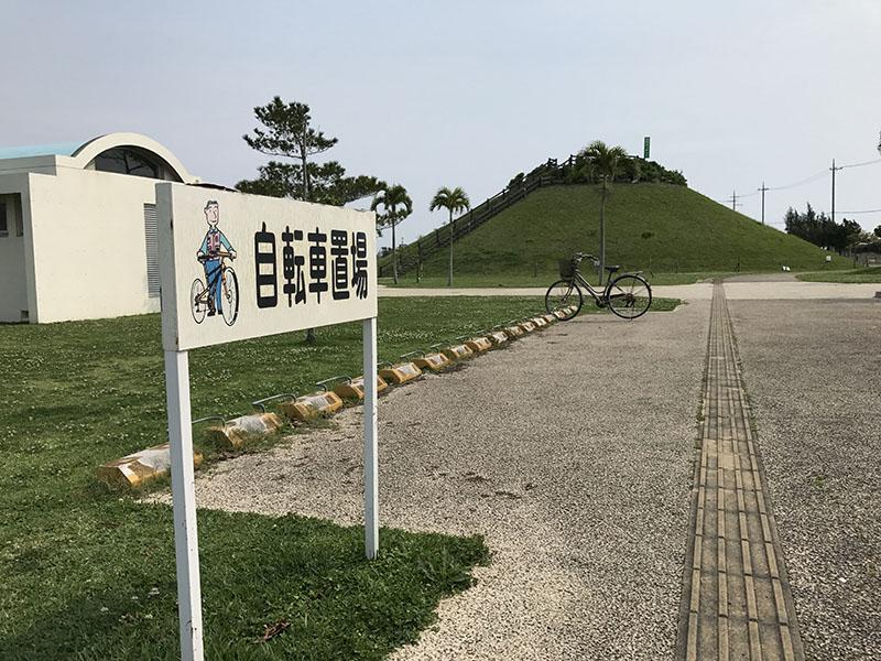 イルカ公園の自転車の駐輪場