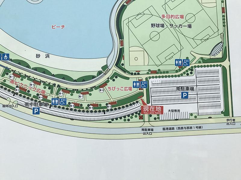 ちびっこ広場周辺の地図