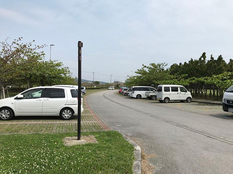 西原マリンパークの南中駐車場